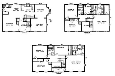 Two story floor plans key modular homes for Continental homes floor plans